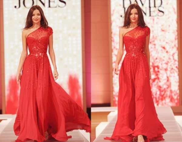 dress red dress miranda ker  miranda kerr prom long sparkle red dress