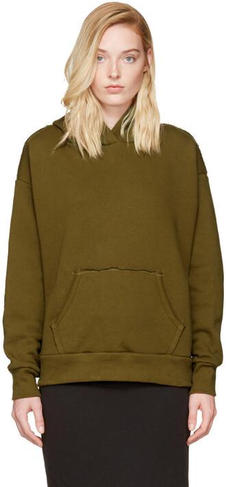 hoodie green sweater