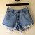 Vintage 90s Levi 550 High Waist Blue Denim Jeans Cheeky Cutoffs Frayed Shorts 4 MIS