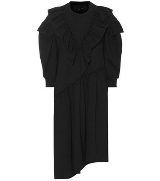 Simone Rocha Ruffled knit dress in black