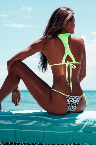 swimwear girly girl girly wishlist bikini bikini top bikini bottoms two-piece swimwear two piece tribal pattern sexy bikini