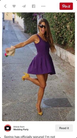 dress purple dress purple cute dress skater dress purple skater dress
