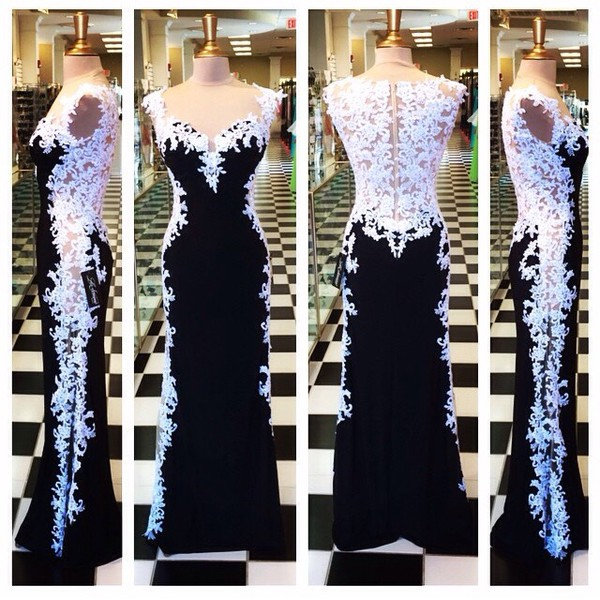 black dress, deess, dress, prom dress, prom dress, gown, style ...