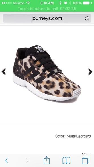 new adidas zx flux torsion leopard print animal