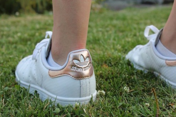adidas stan smith dames metallic