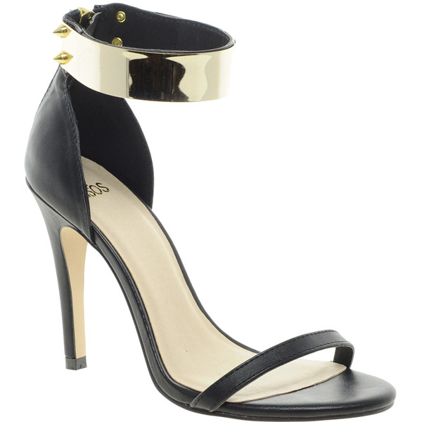 ASOS HONG KONG Heeled Sandals with Metal Trim - Polyvore