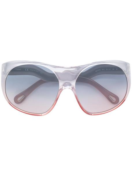 Chloe Eyewear oversized women sunglasses round sunglasses grey