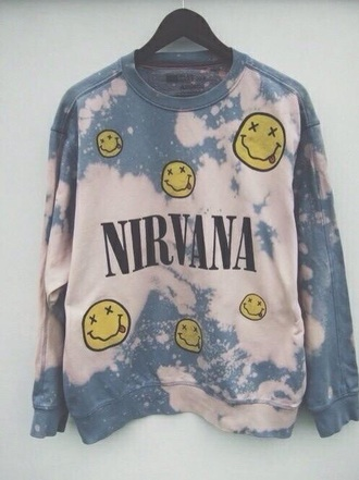 sweater pale tumblr cool soft grunge grunge cool girl style grunge sweater nirvana