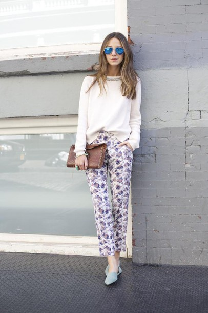 something navy pants sweater shoes bag sunglasses