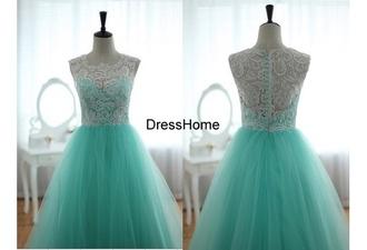 dress aqua blue white and blue prom dress lace homecoming dresses wedding dress