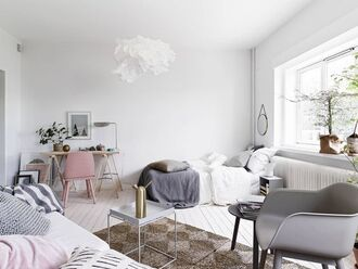 home accessory black white tumblr minimalist grey pillow desk pink chair pink light pink cute aesthetic ikea bedding
