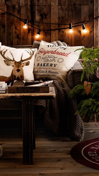 deer holiday season pillow home decor cozy