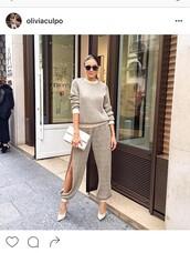 pants,pants with cutouts,celebrity style,slit pants,olivia culpo