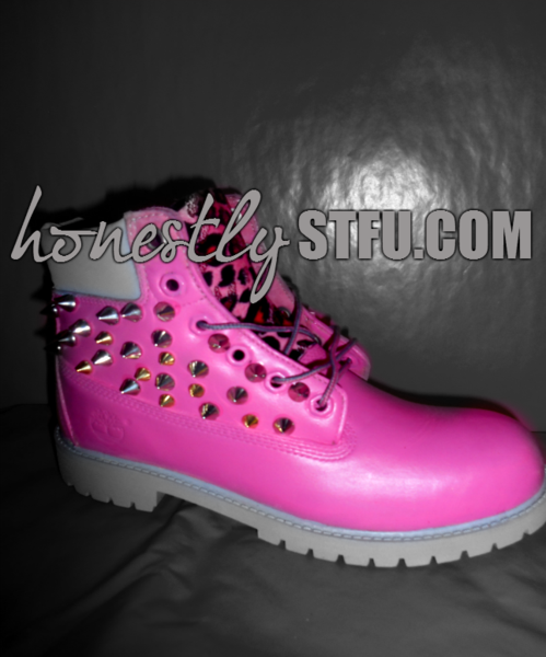 Pink Spike Timberlands – Honestly Shut The Fuck Up