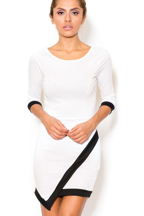 Solid asymmetrical dress