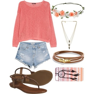 shirt t-shirt shorts orange dress summer top sandals