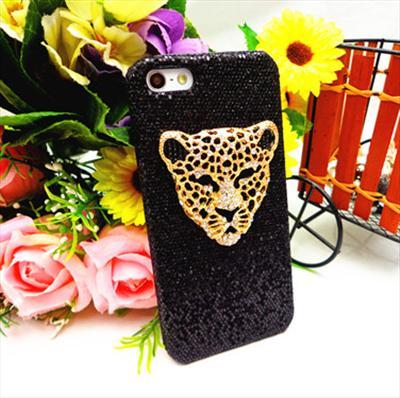 first rate e4fec 24774 MC4 Bling Back Case for iPhone 5 5th 3D Cute Rhinestone Tiger Head Cover    eBay