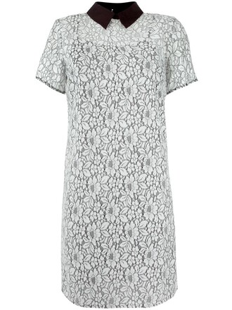 dress collared dress women lace floral white cotton