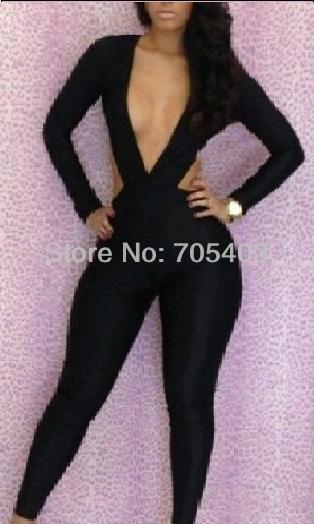 deep neck cross body sexy clubwear clubbing party cocktail jump suit free shipping-in Apparel & Accessories on Aliexpress.com | Alibaba Group