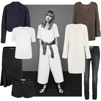 look de pernille blogger dress shorts skirt t-shirt sweater jacket jeans shirt