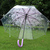 floral print transparent rain umbrella