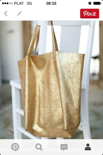 bag celebrity style golden tote large tote women bags