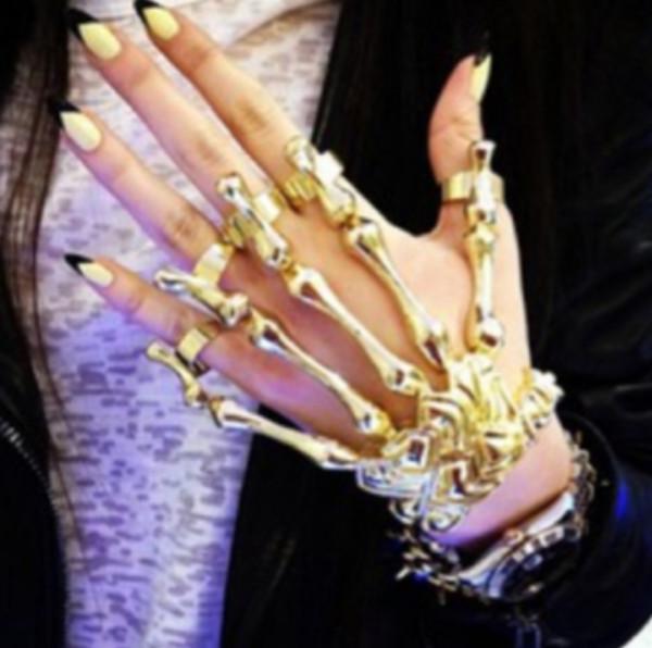 jewels nails watch jewelry shirt