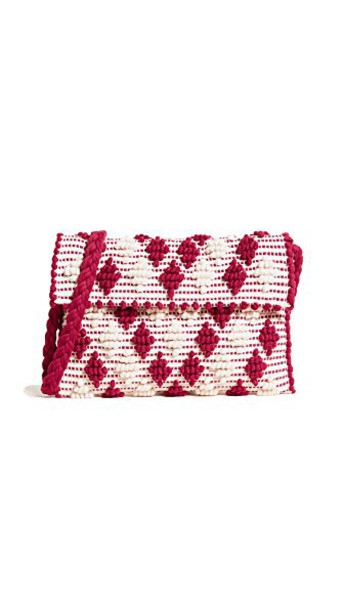 Antonello clutch cream red bag