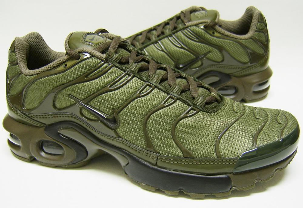 competitive price 3a796 27e22 Nike Air Max Plus GS Tn Tuned Cargo Olive Green Juniors Girls Boys Womens  655020