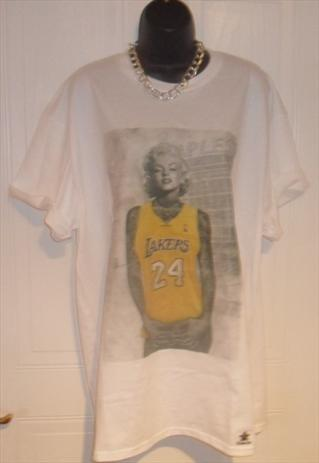 unisex hipster marilyn monroe L A Lakers tattoo t shirt XL | mysticclothing | ASOS Marketplace