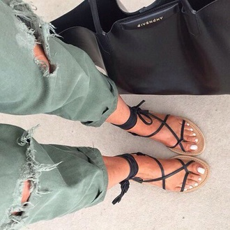 shoes summer shoes sandals shoes jeans green green pants