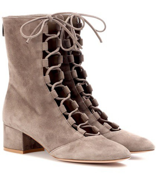 Gianvito Rossi suede ankle boots ankle boots suede beige shoes