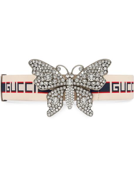 butterfly belt white