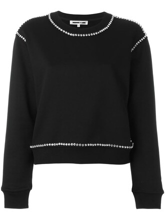 sweatshirt women cotton black sweater
