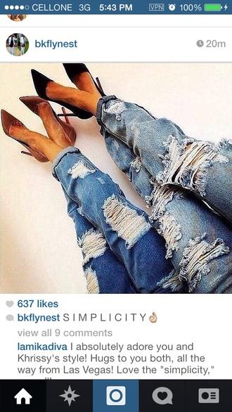 jeans boyfriend jeans ripped