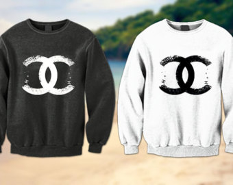 Chanel sweatshirt on etsy, a global handmade and vintage marketplace.