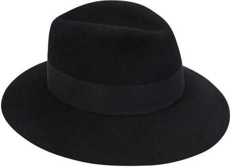6ef130d7b227c2 Maison Michel Henrietta Felt Hat in Black | Lyst