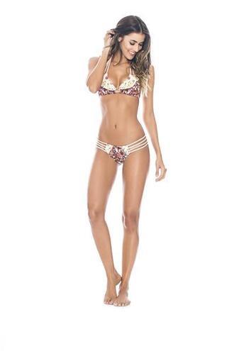 swimwear bikini agua bendita cheeky floral halter top print triangle bikiniluxe