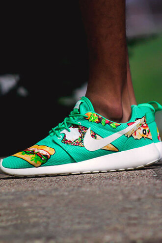 shoes nike running shoes nike roshe run teal hamburger ice cream mens shoes