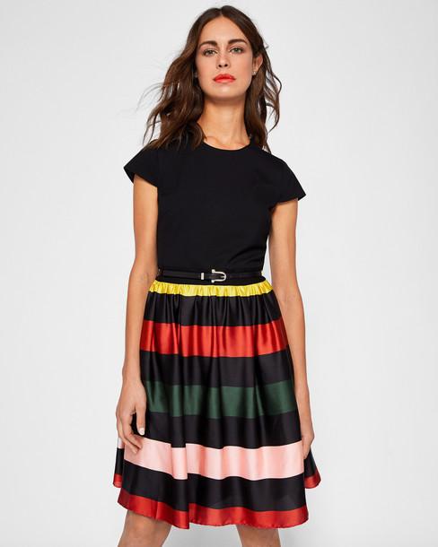 dress midi dress bow midi black