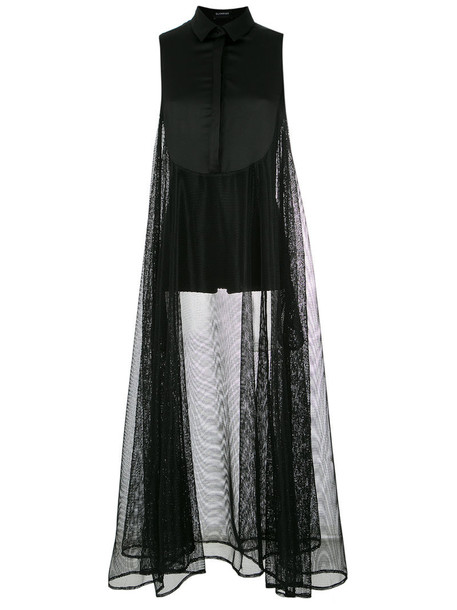 Olympiah dress sheer women black