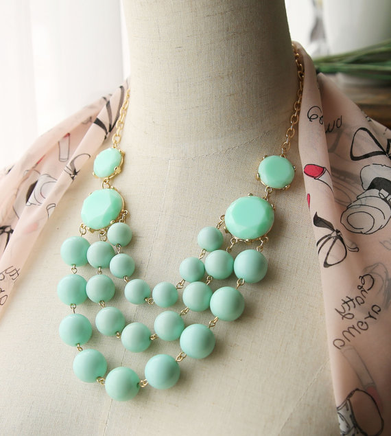 Multi Strand Bubble Necklace J. Crew Style Inspired by Payless4fab