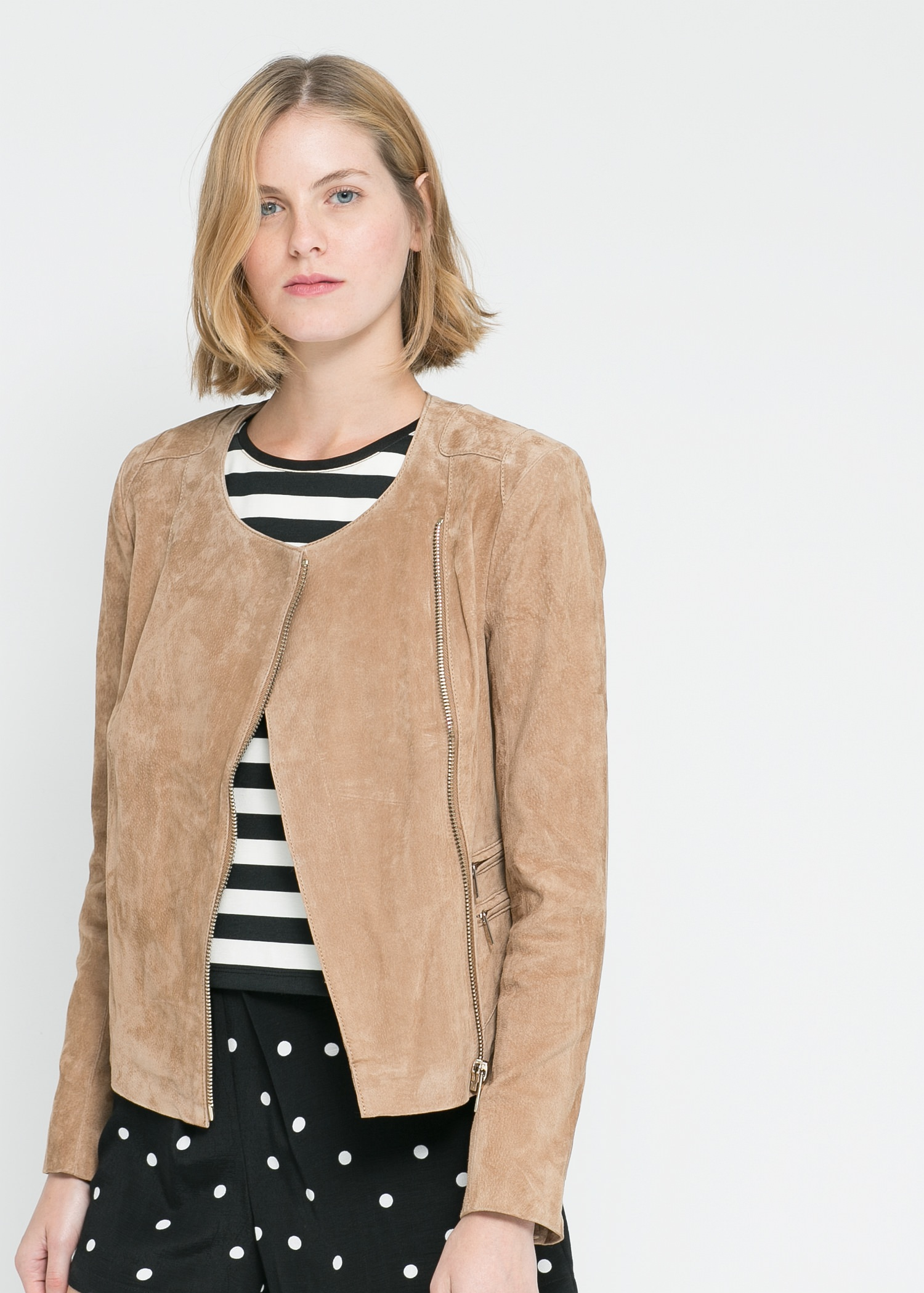 Peccary leather jacket
