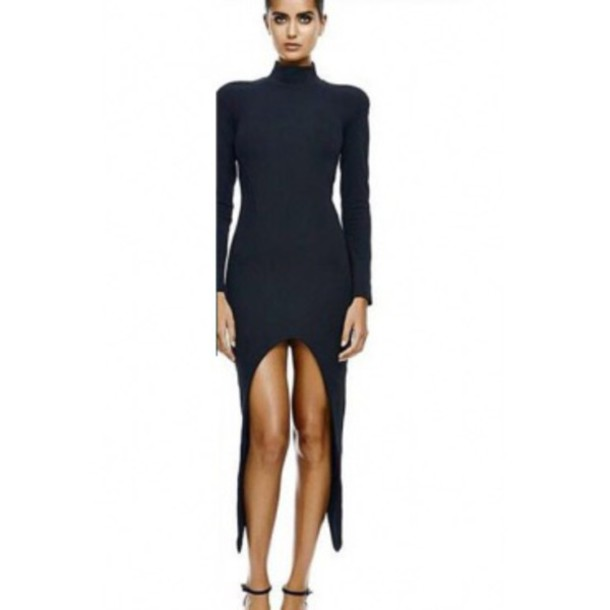 dress little black dress clubwear bodycon dress