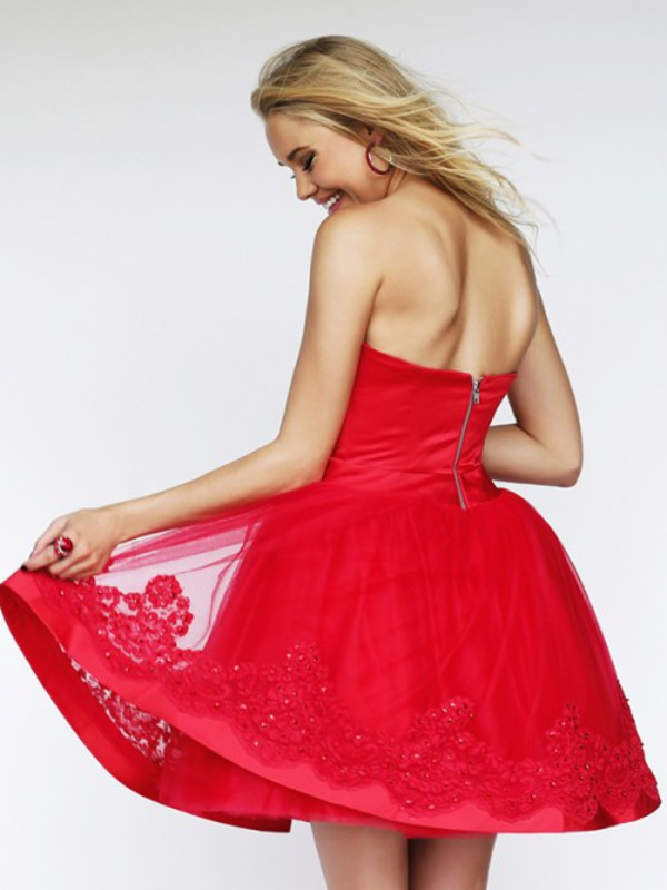 red dress mini dress cocktail dress embroidery dress strapless dress sale dress 2014 dress dress