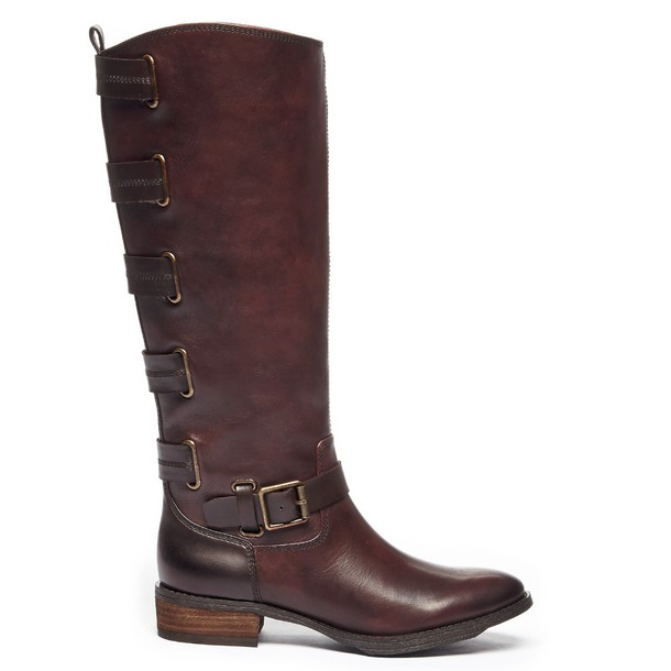 Sole Society Franzie Riding Boot - Dark Brown-5