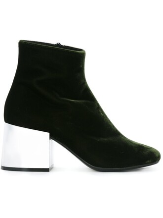 heel boots heel boots green shoes