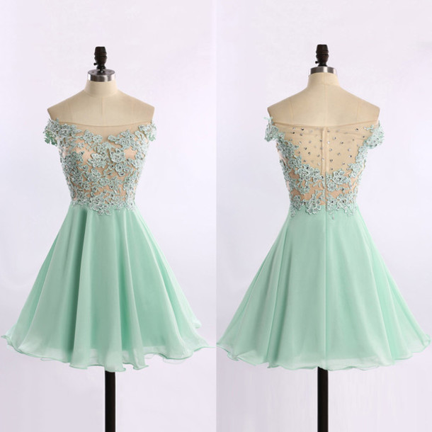 dee52d4e9fdb dress prom mint lace mini chic cute short mint wow cool amazing style  fashiom trendy prom