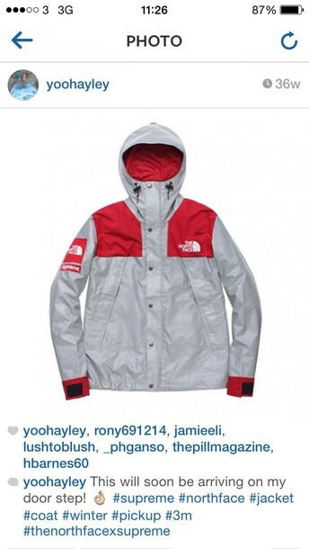 jacket coat supreme north face red black supreme jacket the north face jacket kway