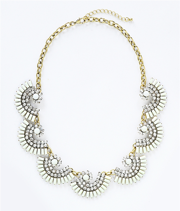 Fanned Cluster Bib - rhinestone statement necklace by Shamelessly Sparkly